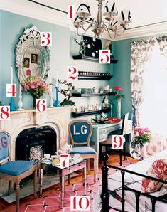LOVE the style of this room  teen vogue masterpiece theatre