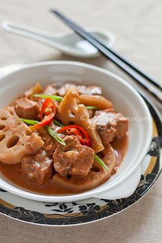 Recipe: Chinese Spicy Nam Yee Pork Ribs with Lotus Root|香辣南乳排骨焖莲藕