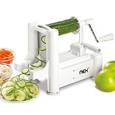Vegetable Spiralizer Slicer Professional Spiral Vegetable and Fruit Slicer Kitchen Gadgets Tools for Zucchini Noodles, Veggie Spaghetti, Pasta Salad -- Check this awesome product by going to the link at the image. (This is an affiliate link) Cooking Equipment, Cooking Tools, Kitchen Tools, Kitchen Gadgets, Batman Cookie Cutter, Veggie Spaghetti, Kitchen Must Haves, Zucchini Noodles, Pasta Salad