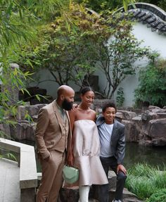 The beautiful Ferguson family: Alan, Solange, and Julez. Ian and I were guests at their epic New Orleans wedding last November, so it was fun to have them out in New York City as guests at ours. Julez and the other two boys his age found some big sticks, and by dinnertime had established a menacing martial arts league.