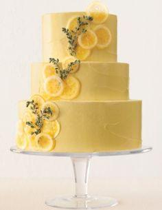 黄色のシンプルケーキ♡おしゃれな結婚式のウェディングケーキまとめ一覧♡