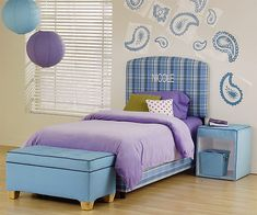 Blue and purple modern decorating...and feng shui for kids!!