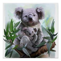 Cross Paintings, Animal Paintings, Animal Drawings, Baby Koala, Koala Tattoo, Baby Animals, Cute Animals, Baby Giraffes, Wild Animals