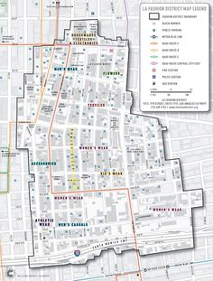 The Garment District Los Angeles Map