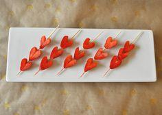 Valentines Day Strawberry Heart Kabobs