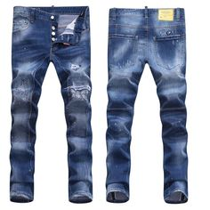 Replica Dsquared2 D2 High Quality Long Jeans, Fashion After Pocket Grid Design The Four Seasons Can Wear Washed Men's Casual Jeans Boutique Jeans #DSQJEAN-406