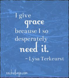 Lysa Terkeurst quote from Unglued : reminding myself this week on Faith Hub that Social Media benefits from grace also....