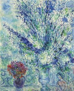 She's swallowed up; I think it's January for this lady. Marc Chagall (1887-1985)  Printemps à Paris