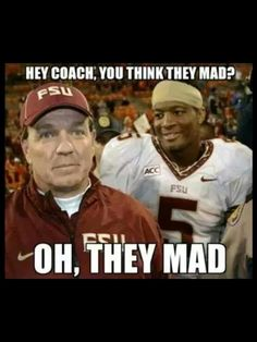 FSU pushed referee out of his way during a play! Haters hyping on Winston!