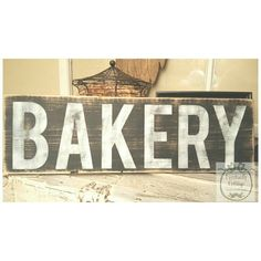 Handpainted Bakery sign by Eventuallycottage on Etsy