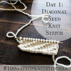 How to knit the Diagonal Seed Stitch +PDF +VIDEO