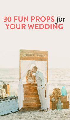 Decor ideas: 30 fun props for your wedding Wedding Props, Cute Wedding Ideas, Wedding Rentals, Wedding Styles, Our Wedding, Dream Wedding, Wedding Decorations, Wedding Inspiration, Wedding Stuff