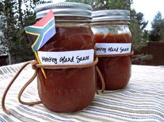 South African Monkey Gland Sauce - South Africa's favourite BBQ sauce—no monkeys were used in the making of this sauce. South African Dishes, South African Recipes, Ethnic Recipes, Africa Recipes, Ketchup, Kos, Dressings, Biltong, Marinade Sauce