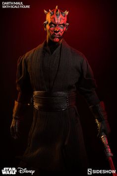 Darth Maul Wallpaper, Sideshow Star Wars, The Phantom Menace, Star Wars Action Figures, Yellow Eyes, Star Wars Darth, Sideshow Collectibles, Star Wars Collection, Star Wars Episodes