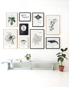 Pretty art wall idea for an entry way