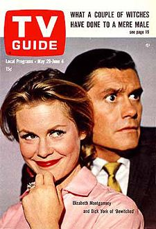 TV Guide May 29, 1965 Bewitched starring Elizabeth Montgomery and Dick York.