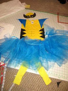 33 best wolverine for omer images on pinterest carnivals diy diy wolverine costume for girls solutioingenieria Images