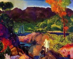 Romance d automne, huile sur toile de George Wesley Bellows (1882-1925, United States)