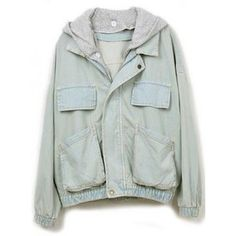 Hooded Loose Denim Outerwear$58.00 ($50-100)