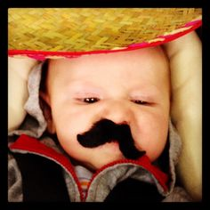 Stick on mustaches for baby's first Mexican fiesta party ;).