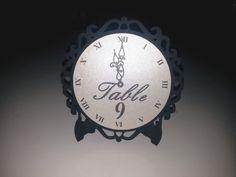 New Year's Eve Wedding Clock Table Numbers  by SensibleWeddings
