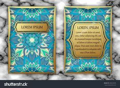 Invitation Or Greeting Card Design Template. Vintage Decorative Elements With Mandala, Delicate Floral Pattern. Islam, Arabic, Indian, Ottoman, Aztec Motifs Stock Vector Illustration 496239340 : Shutterstock