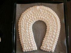 Penová torta 4 Pavlova, Crochet, Food, Essen, Ganchillo, Meals, Crocheting, Knits, Yemek