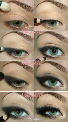 I love this makeup technique. So dramatic and rocker chic. #eye #makeup #tut
