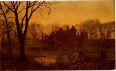 Grimshaw John Atkinson - The haunted house - 1874