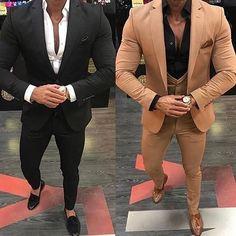 Khaki/Black Men Suits for Wedding 3 Pieces Business Suit Blazer Peak Lapel Costume Homme Terno Party Suits(jacket+pant+vest)Brand Name: FeliruFit Type: LoosePant Closure Type: Zipper FlyItem Type: 3 pieces(Jacket & Pant & Vest) Closure Ty. Mode Masculine, Dress Suits, Men Dress, Men's Suits, Terno Slim, Mode Costume, Designer Suits For Men, Party Suits, Business Casual Men