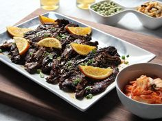 Dad's Hawaiian-Style Beef Short Ribs recipe from Tia Mowry Food Network Rib Recipes, Grilling Recipes, Asian Recipes, Dinner Recipes, Oxtail Recipes, Hawaiian Recipes, Asian Foods, Ribs Au Barbecue, Recipes