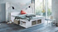 platform bed with storage shelves and baskets for small bedroom & 38 best Bed designs images on Pinterest | Fancy bedroom Bed designs ...
