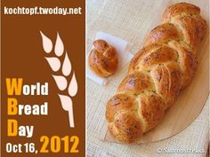 Zopf or Swiss braided bread for World Bread Day