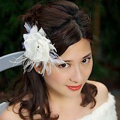 Bridal Head Piece Ivory Bridal Hair Flower Wedding Fascinator