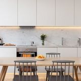 Sleek White Kitchen - Architecture for London