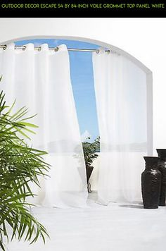 Outdoor Decor Escape 54 by 84-Inch Voile Grommet Top Panel White #outdoor #decor #tech #plans #parts #gadgets #products #shopping #camera #racing #escape #fpv #technology #drone #kit