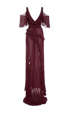 Open Shoulder Long Dress by ELIE SAAB for Preorder on Moda Operandi