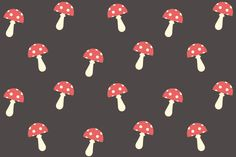 Free Mushroom Seamless Pattern Preview