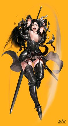 Kai Fine Art is an art website, shows painting and illustration works all over the world. Fantasy Character Design, Character Concept, Character Art, Concept Art, Fantasy Female Warrior, Fantasy Girl, Female Art, Art Anime Fille, Anime Art Girl