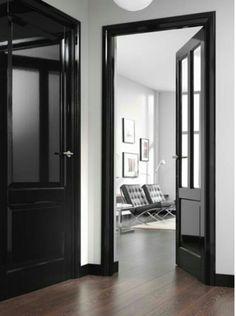 plus de 1000 id es propos de portes noires sur pinterest portes noires portes int rieures. Black Bedroom Furniture Sets. Home Design Ideas