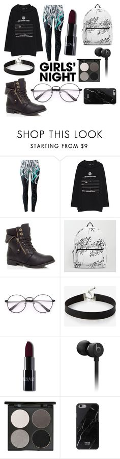 """""""Girls Night"""" by the-mad-hatters-tea ❤ liked on Polyvore featuring Puma, Express, Beats by Dr. Dre and Gorgeous Cosmetics"""