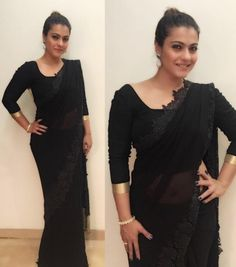 Kajol Stuns in Black as She Gears Up to Collect An Award for Hubby Ajay! | PINKVILLA