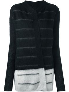 Shop Rick Owens bicolour cardigan  in Coltorti from the world's best independent boutiques at farfetch.com. Shop 400 boutiques at one address.