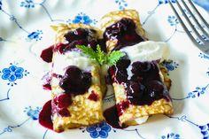 Paleo Blueberry Breakfast Crepes  #SwissPaleo
