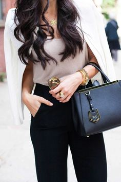 Fendi bag. Outfit. Work The Fashion: Gorgeous dress black fur Summer outfits Teen fashion Cute Dress! Clothes Casual Outift for • teens • movies • girls • women •. summer • fall • spring • winter • out