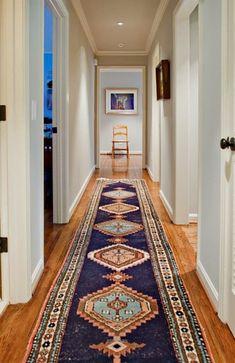 Designer: Dovetail Design Works & The Wills Company / Kws: narrow hallway vista decor design decorating ideas diy rug art (long hallway runners light fixtures) Style At Home, Home Fashion, My Dream Home, Interior Decorating, Decorating Ideas, Decor Ideas, Interior Rugs, Rug Ideas, Interior Ideas