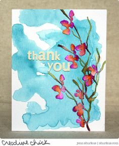 Love this card created by Jenn for the Simon Says Stamp Wednesday challenge (Anything Goes)