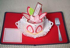 【型紙無料公開中】ストロベリーケーキの画像 | ポップアップカード(pop up card) by Kagisippo