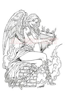 Adult sexy angel coloring pages to print share your