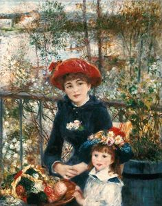 """""""Auf der Terrasse"""" (1881) von Pierre-Auguste Renoir (geboren am 25. Februar 1841 in Limoges, Limousin, gestorben am 3. Dezember 1919 in Cagnes-sur-Mer, Côte d'Azur), französischer Maler des Impressionismus."""